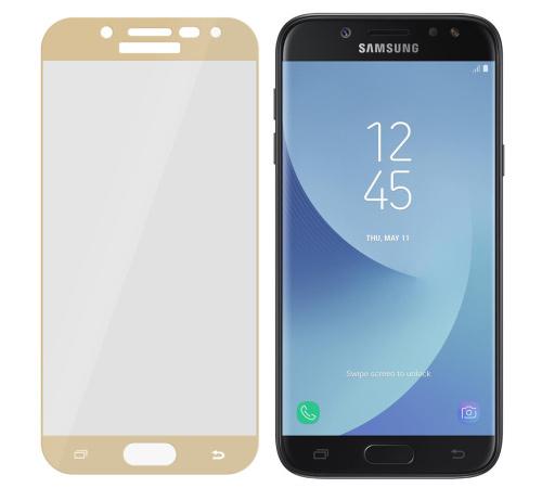 Tvrzené sklo 3mk FlexibleGlass Max pro Samsung Galaxy J5 2017, zlatá