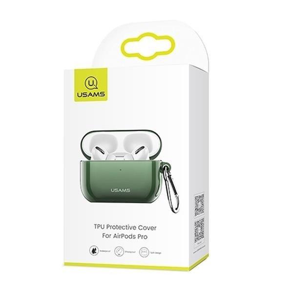 USAMS BH570 Silikonové pouzdro pro AirPods PRO transparent green