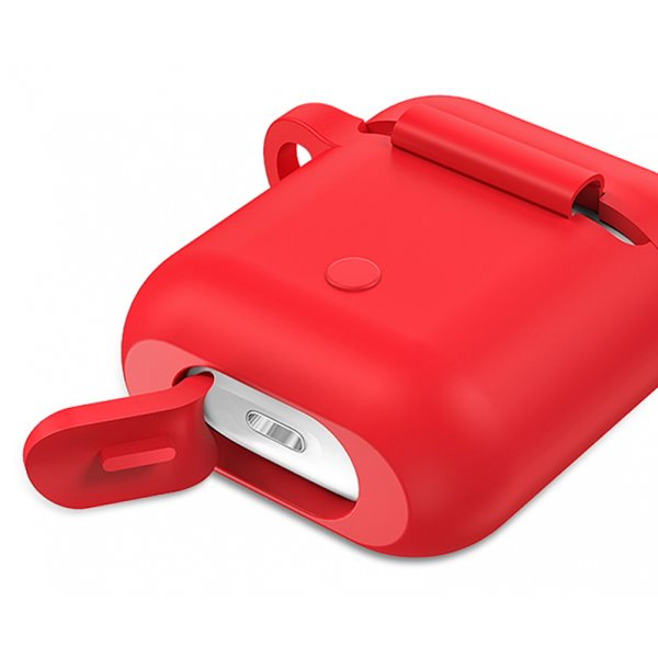 USAMS BH423 Silikonové pouzdro pro Apple AirPods red