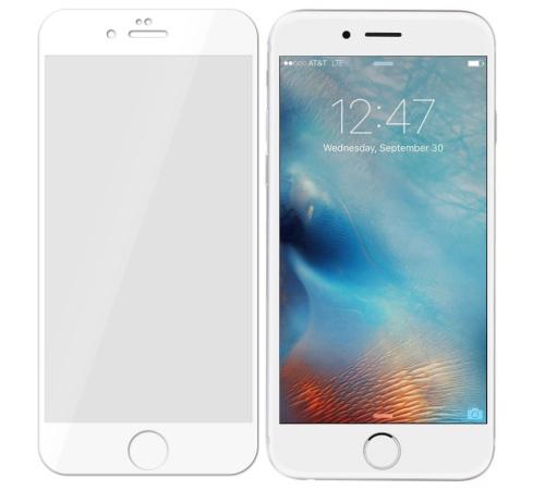 Tvrzené sklo 3mk FlexibleGlass Max pro Apple iPhone 6, 6s, bílá