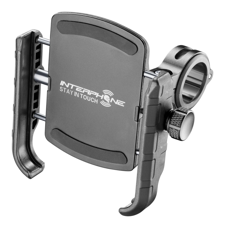 Držák na mobilní telefony Interphone Crab s úchytem na řidítka, černý