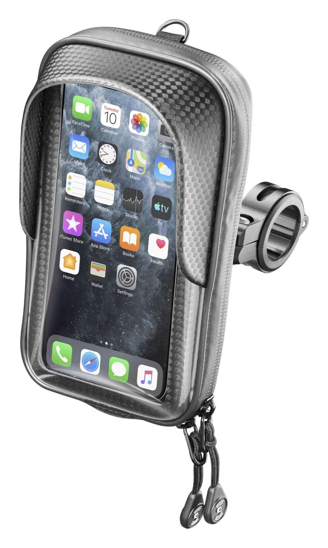 """Držák na mobilní telefony Interphone Master s úchytem na řídítka max. 5.8"""", černý"""
