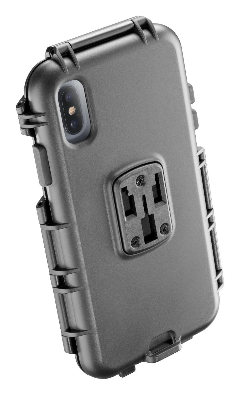 Voděodolné pouzdro Interphone pro Apple iPhone XS Max, úchyt na řídítka, černé
