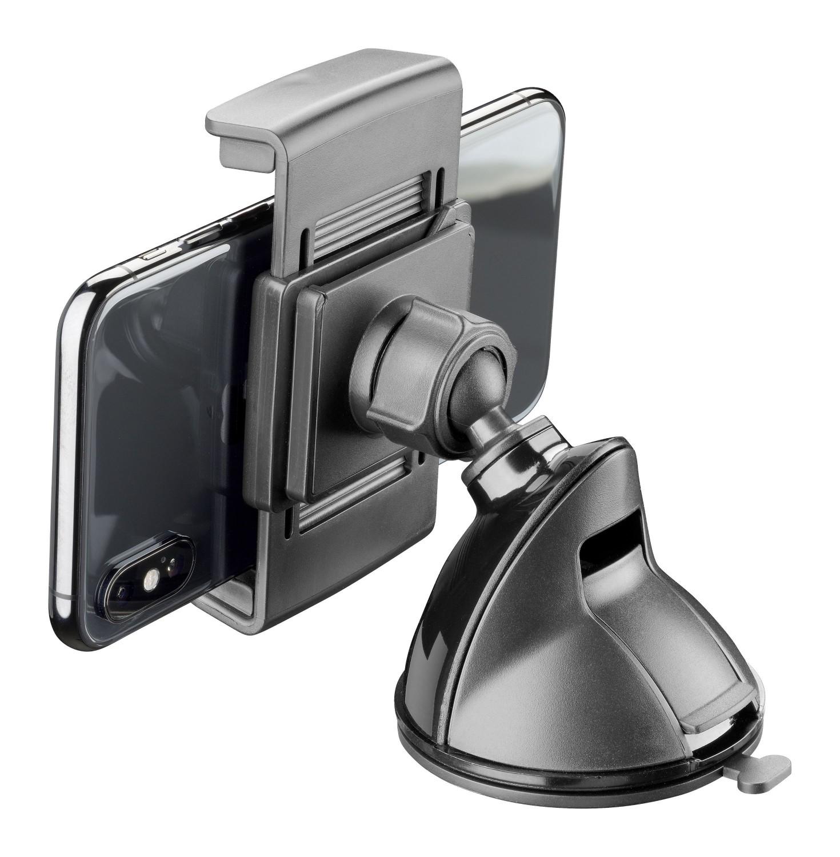 Držák s přísavkou Cellularline Pilot Embrace pro mobilní telefony, černý