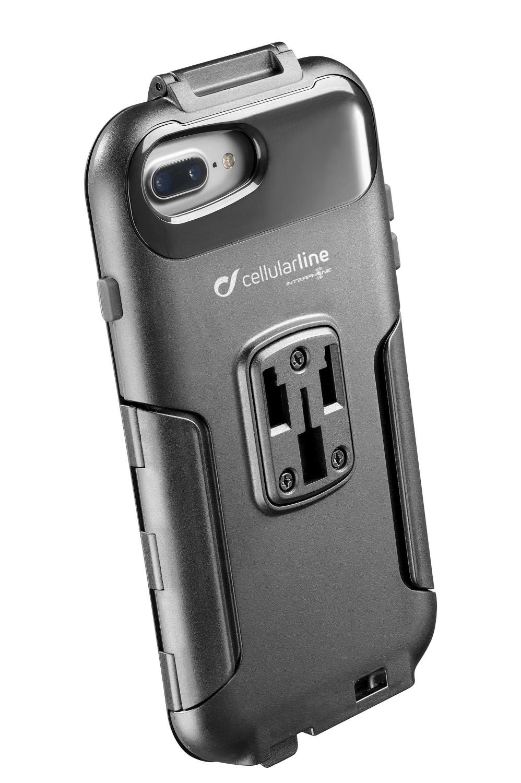 Voděodolné pouzdro Interphone Apple iPhone 8 Plus/7 Plus/6 Plus, úchyt na řídítka, černé