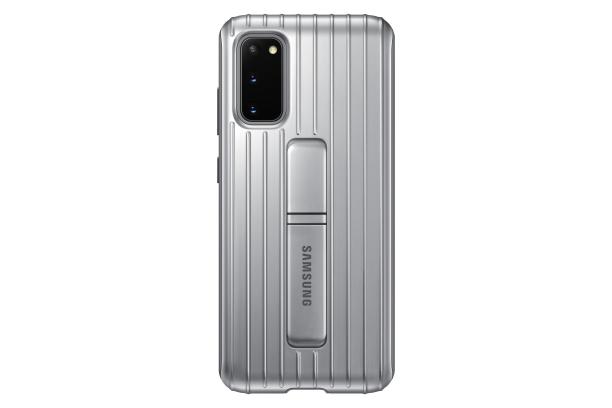 Zadní kryt Protective Standing Cover pro Samsung Galaxy S20, stříbrná
