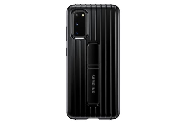 Zadní kryt Protective Standing Cover pro Samsung Galaxy S20, černá
