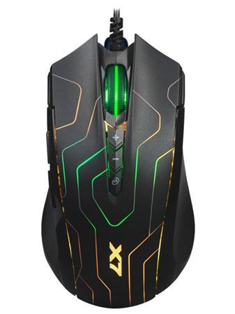 Herní myš A4tech X89 Maze Oscar Neon, černá