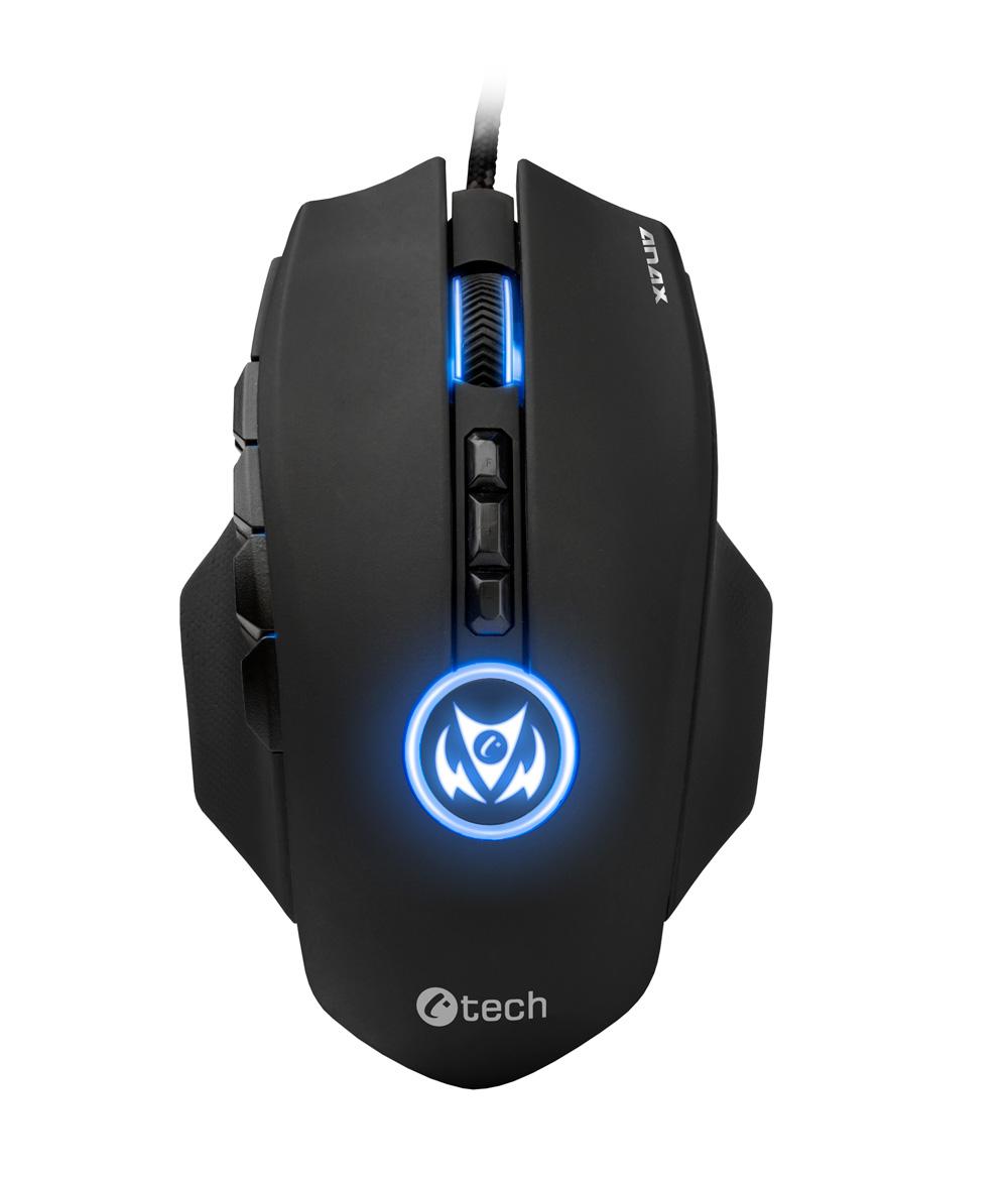 Herní myš C-TECH Anax GM-21, Laser, USB, černá
