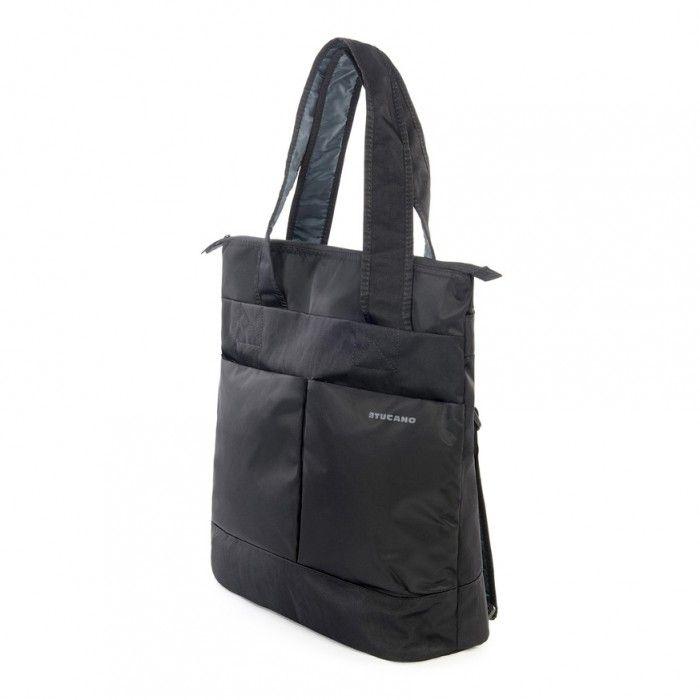 """Tucano PIÚ Brašna-shopper/batoh, pro notebooky 14"""", MacBook Pro 15"""" Retina, černá"""