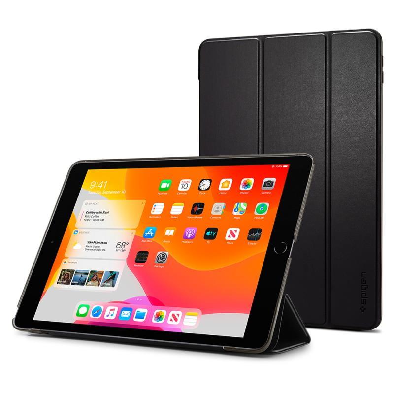 """Flipové pouzdro Spigen Smart Fold pro Apple iPad 10.2"""" 2019, černá"""