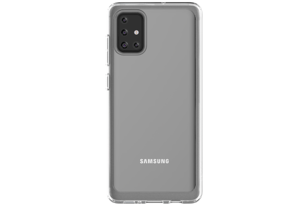 Silikonové pouzdro A Cover pro Samsung Galaxy A71, transparentní