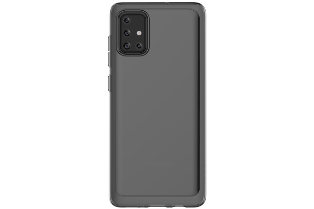 Silikonové pouzdro A Cover pro Samsung Galaxy A71, černá