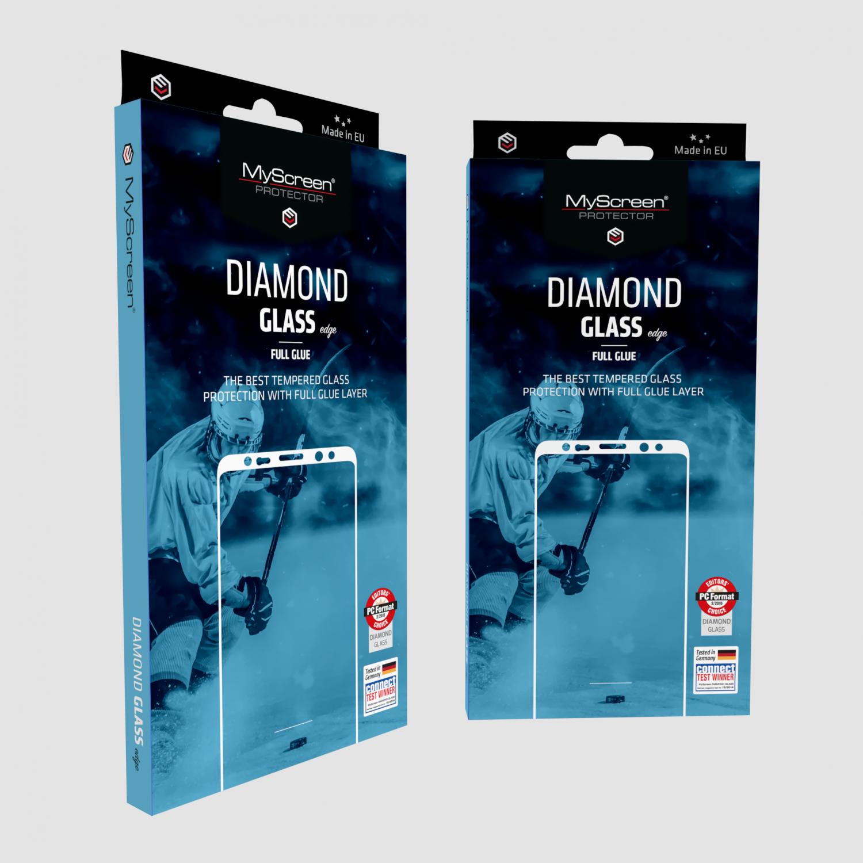Ochranné sklo MyScreen Diamond Glass Edge FullCover pro Samsung Galaxy A3 2017, zlatá