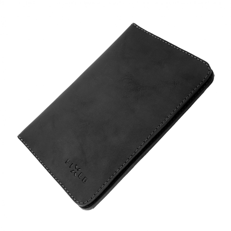 Kožená peněženka FIXED Smile Passport se smart trackerem, černá
