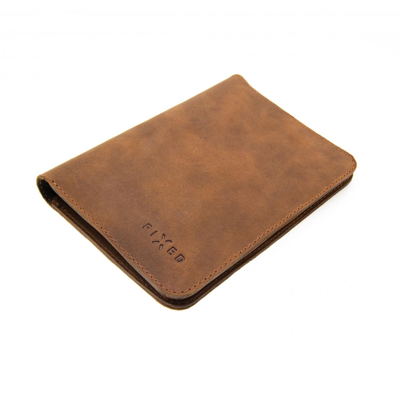 Kožená peněženka FIXED Smile Passport se smart trackerem, hnědá