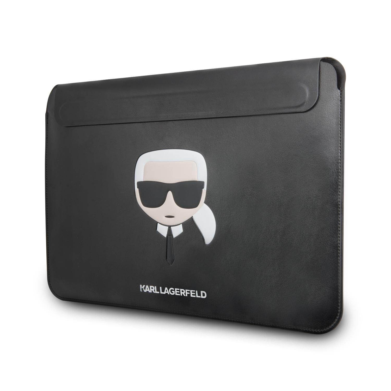 Karl Lagerfeld Kožené Sleeve pouzdro KLCS133KHBK Apple MacBook Air/Pro black
