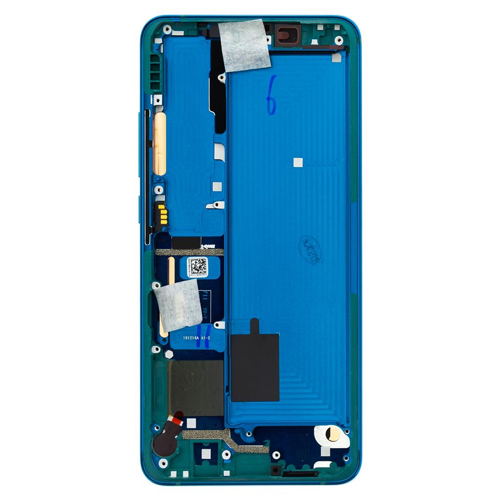 LCD + dotyk + přední kryt pro Xiaomi Mi Note 10, green (Service Pack)