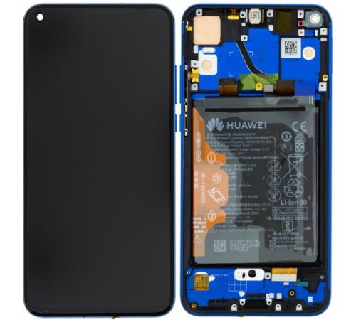 LCD + dotyk + přední kryt, baterie pro Honor View 20, blue (Service Pack)