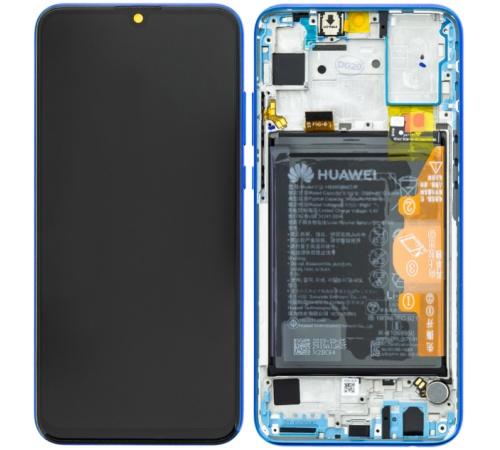 LCD + dotyk + přední kryt, baterie pro Honor 20 Lite, blue (Service Pack)