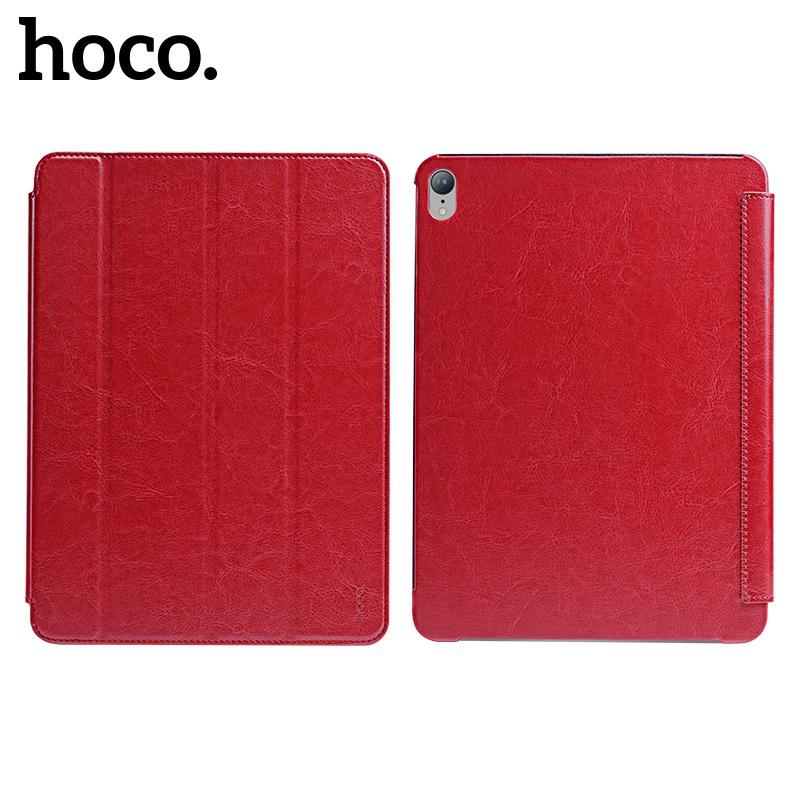 Flipové pouzdro Hoco Crystal Series protective case pro iPad Pro 12,9, červená
