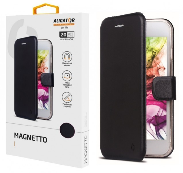 Flipové pouzdro ALIGATOR Magnetto pro Huawei P40, černá