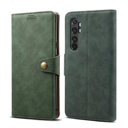 Lenuo Leather flipové pouzdro na Xiaomi Mi Note 10 Lite, green