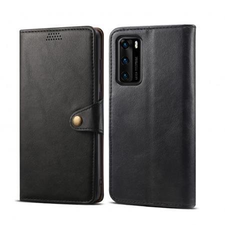 Lenuo Leather flipové pouzdro na Huawei P40, black