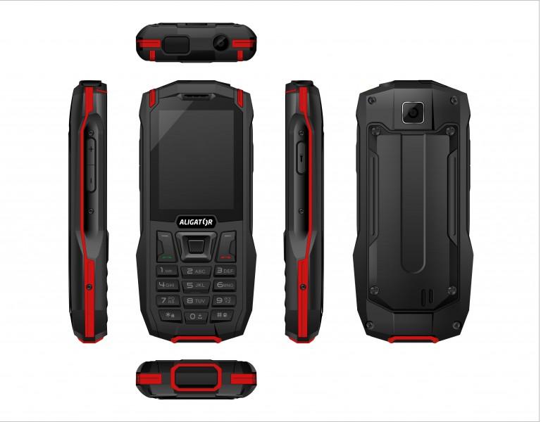 ALIGATOR K50 eXtremo 4G/LTE černo-červený