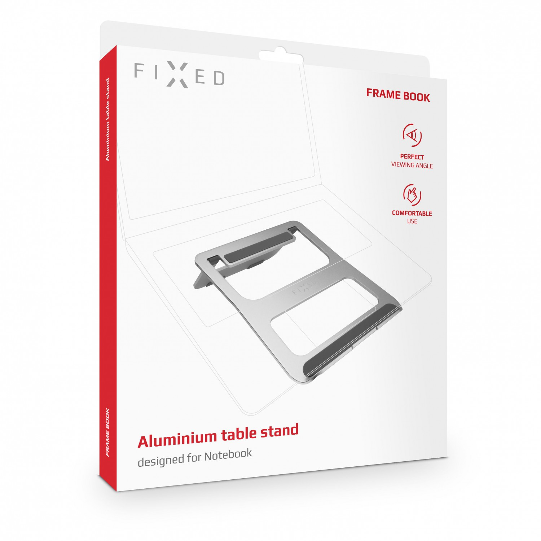 """Hliníkový stojánek FIXED Frame BOOK na stůl pro notebooky 13 - 15"""", silver"""