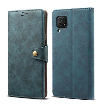 Lenuo Leather flipové pouzdro na Huawei P40 Lite, blue
