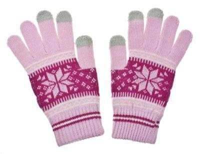 Dámské rukavice NORDIC na dotykový displej pink