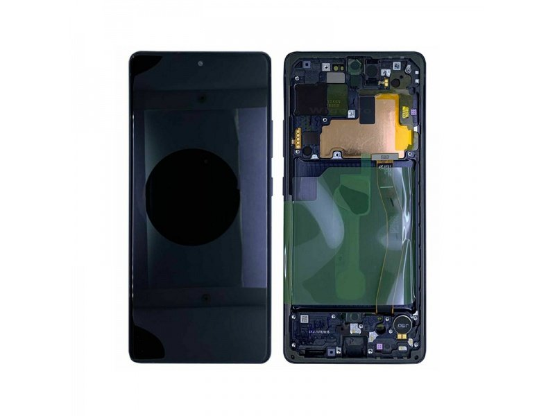 LCD + dotyk + rámeček pro Samsung Galaxy S10 Lite, prism black (Service Pack)