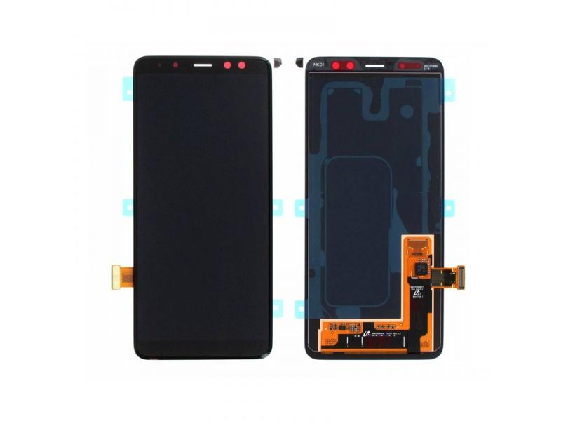 LCD + dotyk pro Samsung Galaxy A8 2018, black ( Service Pack )