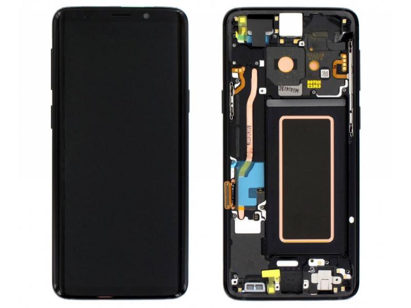 LCD + dotyk + rámeček pro Samsung Galaxy S9, black (Service Pack)