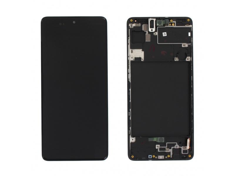 LCD + dotyk + rámeček pro Samsung Galaxy A71, black (Service Pack)