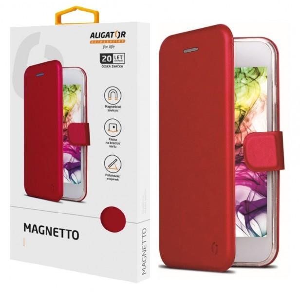 Flipové pouzdro ALIGATOR Magnetto pro Xiaomi Redmi 9A, červená