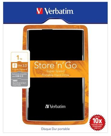 "VERBATIM Store´n´ Go 2,5"" 1TB USB 3.0 černý"