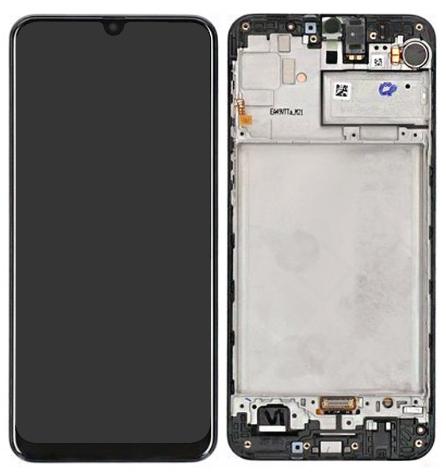 LCD + dotyk pro Samsung Galaxy M21, black ( Service Pack )