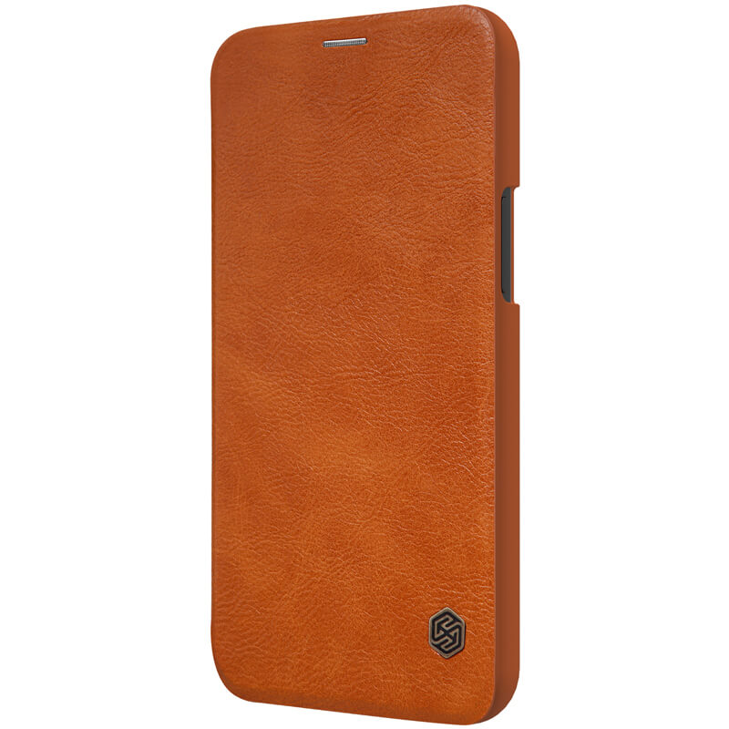 Nillkin Qin flipové pouzdro pro Apple iPhone 12 Pro Max brown