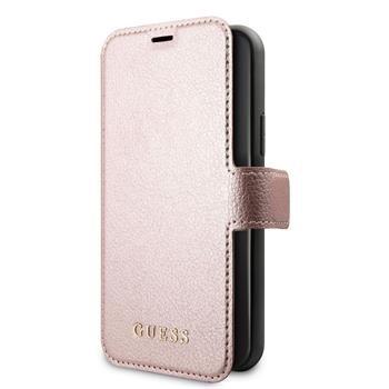 Guess Iridescent pouzdro flip GUFLBKSP12MIGLRG Apple iPhone 12/12 Pro pink