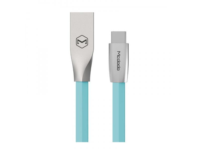 Datový kabel Mcdodo Zinc Alloy Series Type-C Cable, 2m, modrá