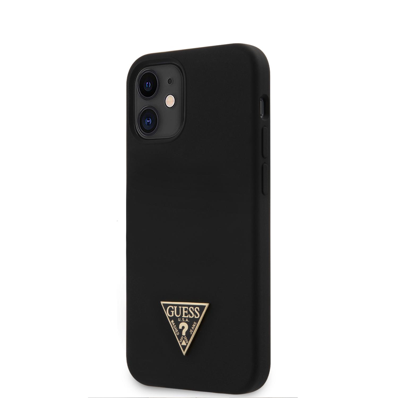 Guess Metal Triangle silikonový kryt GUHCP12SLSTMBK Apple iPhone 12 mini black