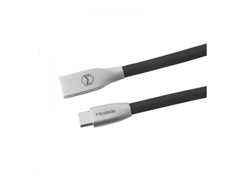 Datový kabel Mcdodo Zinc Alloy Series Type-C Cable, 1m, černá