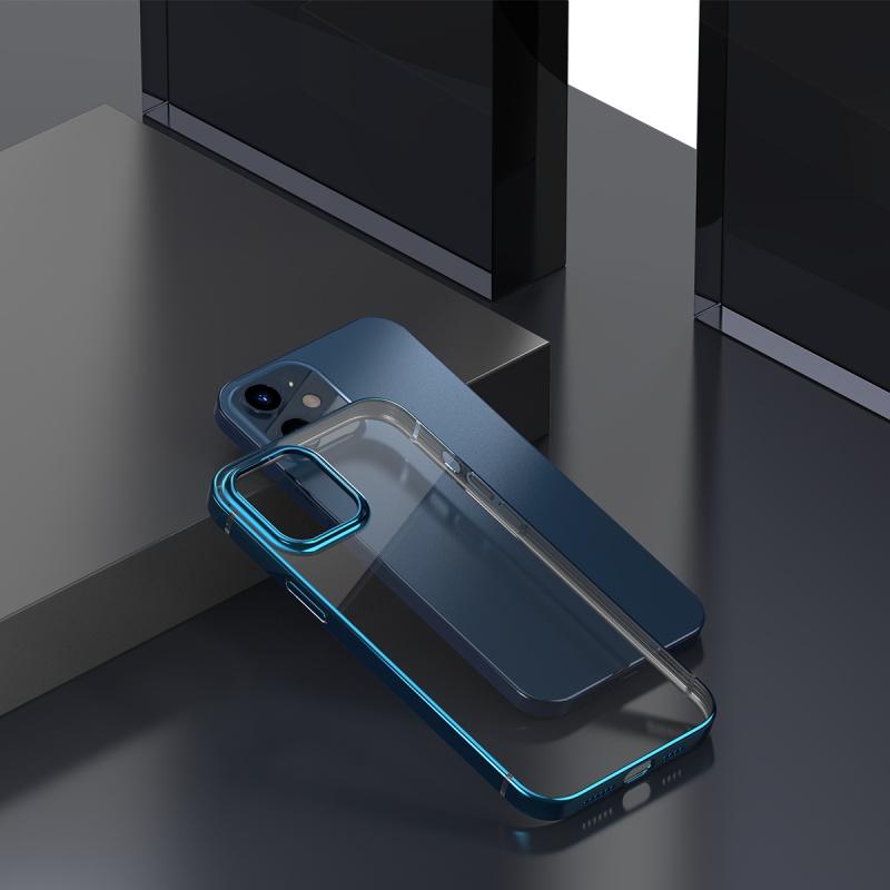 Ochranné pouzdro Baseus Shining Case Anti-fall pro Apple iPhone 12 Mini, transparentní modrá
