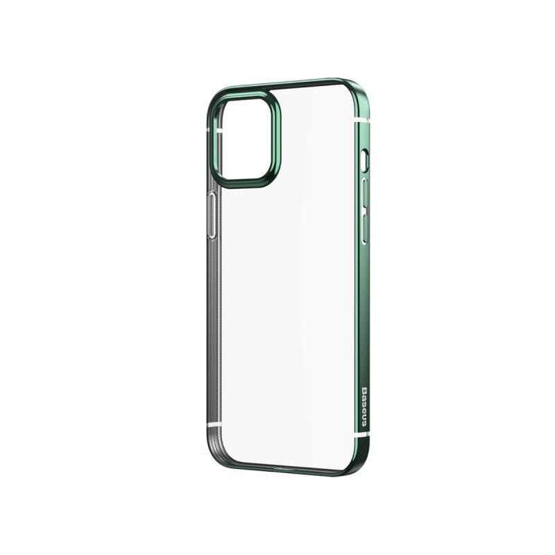 Ochranné pouzdro Baseus Shining Case Anti-fall pro Apple iPhone 12, transparentní zelená