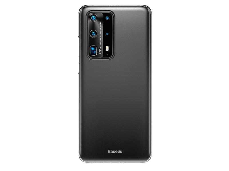 Baseus Wing silikonový kryt, pouzdro, obal na Huawei P40 black