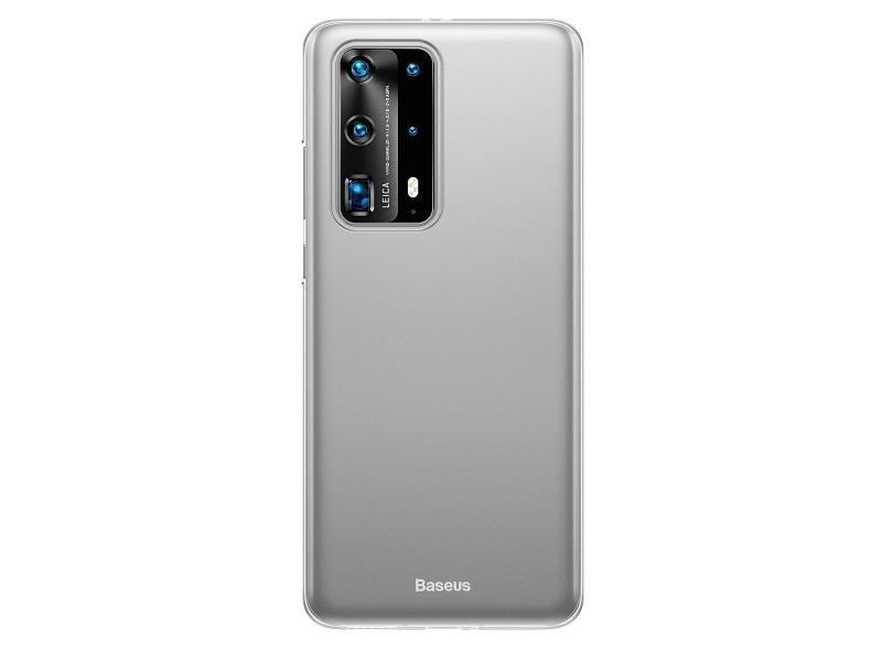 Baseus Wing silikonový kryt, pouzdro, obal na Huawei P40 white
