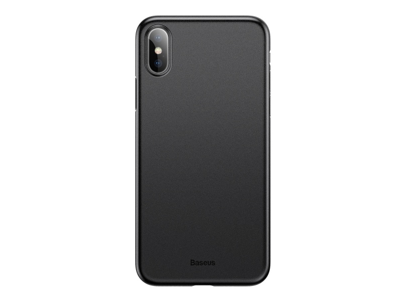 Baseus Wing silikonový kryt, pouzdro, obal Apple iPhone X / XS solid black