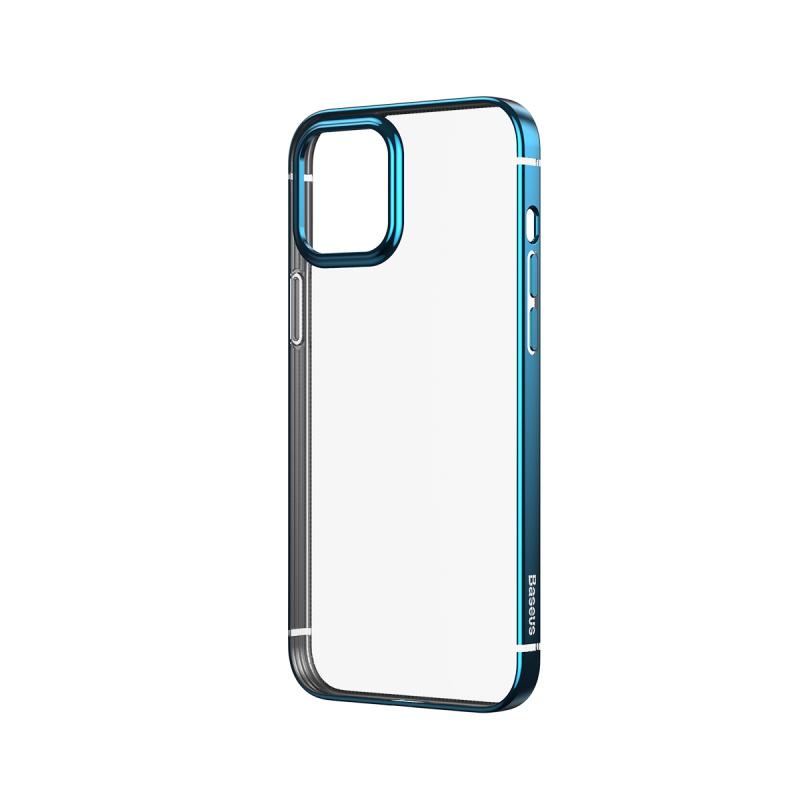 Ochranné pouzdro Baseus Shining Case Anti-fall pro Apple iPhone 12 Pro Max, transparentní modrá